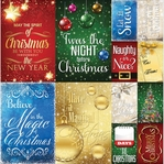 Magical Christmas Poster 12 x 12 Cardstock Stickers