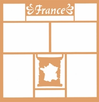 Maps of the World: France 12 x 12 Overlay Laser Die Cut