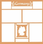 Maps of the World: Germany 12 x 12 Overlay Laser Die Cut