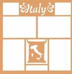 Maps of the World: Italy 12 x 12 Overlay Laser Die Cut