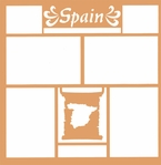 Maps of the World: Spain 12 x 12 Overlay Laser Die Cut