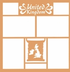 Maps of the World: United Kingdom 12 x 12 Overlay Laser Die Cut