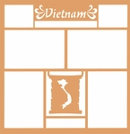 Maps of the World: Vietnam 12 x 12 Overlay Laser Die Cut