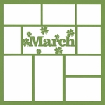 March 12 x 12 Overlay Laser Die Cut