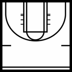 March Madness: Basketball Court 12 x 12 Overlay Laser Die Cut