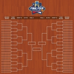 March Madness: Championship Bracket 12 x 12 Paper