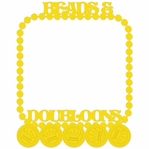Mardi Gras: Beads and Doubloons 12 x 12 Overlay Laser Die Cut