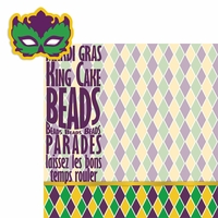 Mardi Gras: Mask 2 Piece Laser Die Cut Kit