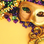 Mardi Gras: Mask and Beads 12 x 12 Paper