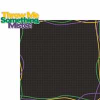 Mardi Gras: Throw Me Something 2 Piece Laser Die Cut Kit