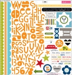 Max: Treasures & Text 12 x 12 Cardstock Sticker Sheet