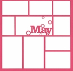 May 12 x 12 Overlay Laser Die Cut