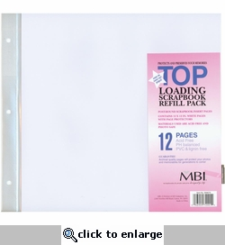 MBI 12 x 12 Scrapbook Album Refill Pages (6 Refill Pages)