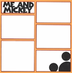 Me And Mickey 12 x 12 Overlay Laser Die Cut
