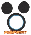 Me & Mickey Photo Frame Laser Die Cut