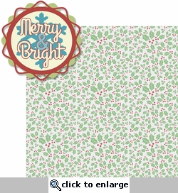 Merry And Bright: Merry And Bright 2 Piece Laser Die Cut Kit