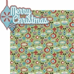 Merry And Bright: Merry Christmas 2 Piece Laser Die Cut Kit