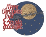 Merry Christmas To All And To All A Good Night Laser Die Cut