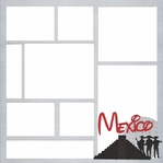 Mexico Theme Park 12 x 12 Overlay Laser Die Cut