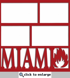 Miami Flame 12 x 12 Overlay Laser Die Cut