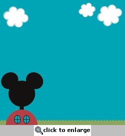 Mickey Clubhouse: Clubhouse 12 x 12 Paper