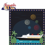 Mickey Cruise: Fireworks at Sea 2 Piece Laser Die Cut Kit