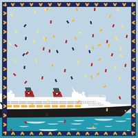 Mickey Cruise: Sail Away Party 12 x 12 Paper