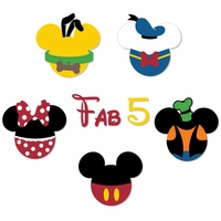 Mickey Head: Fab 5 Laser Die Cuts