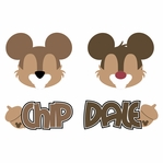 Mickey Heads: Chipmunk Die Cuts