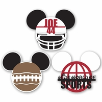 Mickey Heads: Custom Football Die Cuts