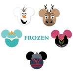 Mickey Heads: Frozen Die Cuts
