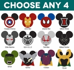 Mickey Heads: Marvel Superhero Mouse Head Die Cuts