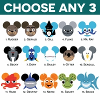 Mickey Heads: Nemo and Dory Mouse Head Laser Die Cuts