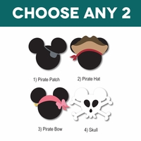 Mickey Heads: Pirate Mouse Head Laser Die Cuts