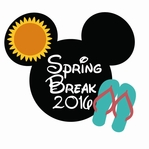 Mickey Heads: Spring Break 2016 Die Cut