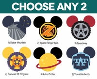 Mickey Heads: Tomorrowland Mouse Head Laser Die Cuts