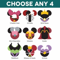 Mickey Heads: Villain Die Cuts