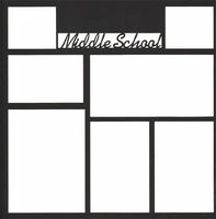 Middle School 12 x 12 Overlay Laser Die Cut