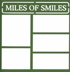 Miles Of Smiles 12 x 12 Overlay Laser Die Cut