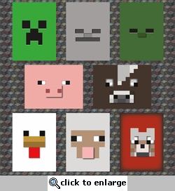 Minecraft: Face Journaling Cards 12 x 12 Paper