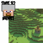 Minecraft: Time to Mine 2 Piece Laser Die Cut Kit