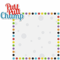 Mini Golf: Putt Putt Champ 2 Piece Laser Die Cut Kit