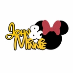 Minnie: Custom Name and Minnie  Laser Die Cut