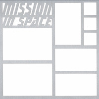 Mission In Space 12 x 12 Overlay Laser Die Cut
