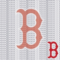 MLB Fanatic: Boston Red Sox 12 x 12 Paper