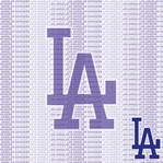 MLB Fanatic: Los Angeles Dodgers 12 x 12 Paper