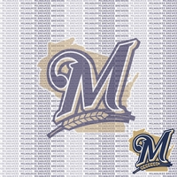 MLB Fanatic: Milwaukee Brewers 12 x 12 Paper