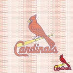MLB Fanatic: St. Louis Cardinals 12 x 12 Paper