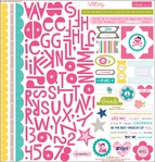 Molly : Treasure & Text 12 x 12 Cardstock Sticker Sheet