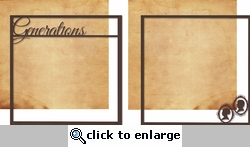 Moments In Time: Generations Double 12 x 12 Overlay Quick Page Laser Die Cut